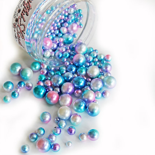 1 .8 Ounce Beautiful Beads Mermaids Tail Iridescent Pearls
