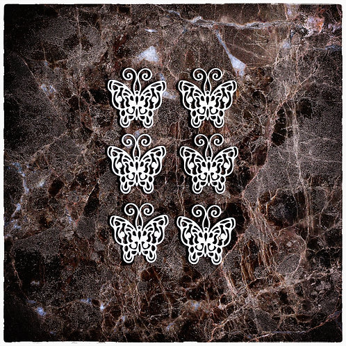 Beautiful Board Large 6 Piece Dainty Butterflies Laser Cut Chipboard