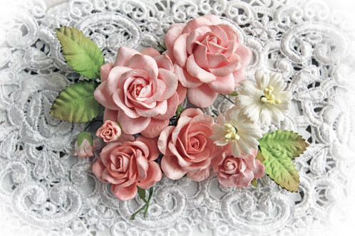 Dusty rose roses leaves mulberry paper flowers mightylinksfo