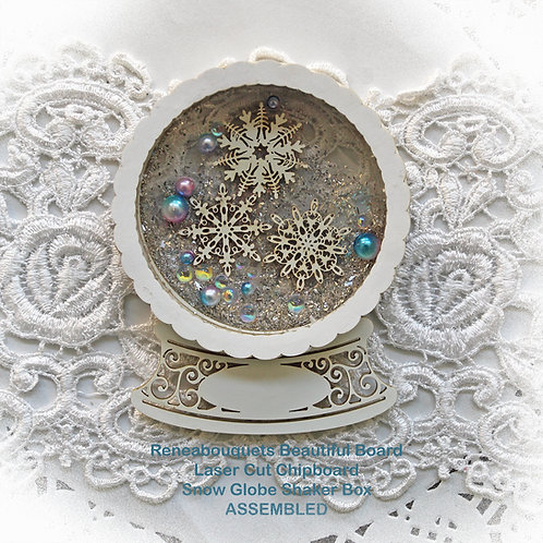 Beautiful Box Snow Globe Shaker Box Laser Cut Chipboard DIY Kit
