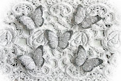 Tiny Treasures Silver Fairy Dust Butterflies Set