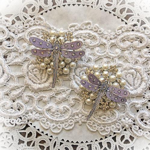 Pendant Purple Premium Paper  Dragonflies