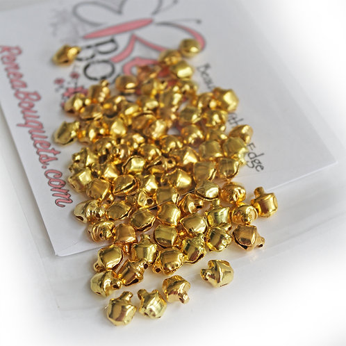 Jingle Bells Gold 6mm Trinkets Pack Of 75