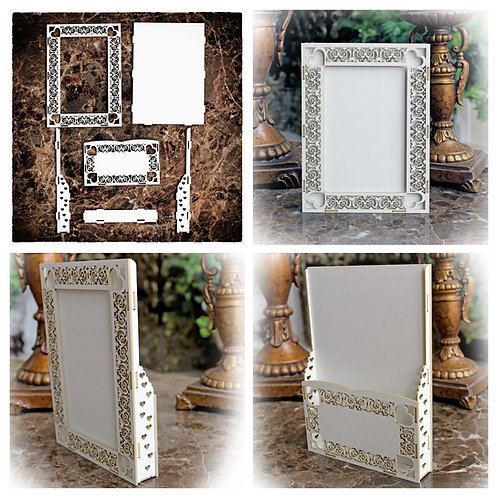 Beautiful Board Heart Deco Loaded Card, Tag or Frame Chipboard Kit