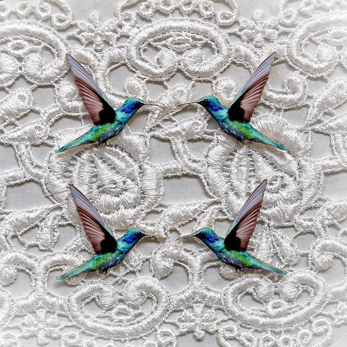 Beautiful Board Magical Hummingbirds Itty Bitty Chipboard Set