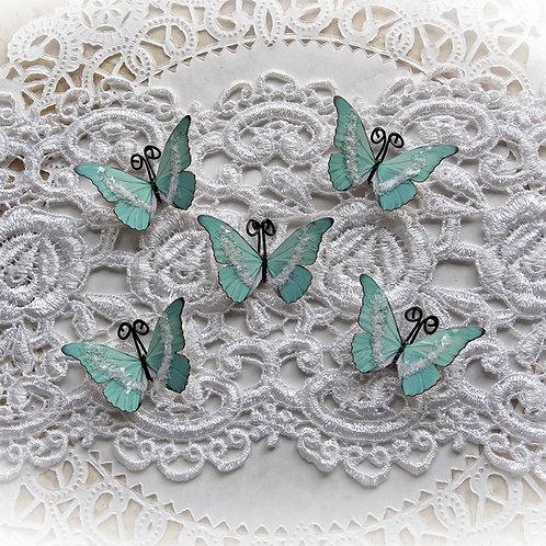 Tiny Treasures Ice Fairy Mint Green Premium Paper Glitter Glass