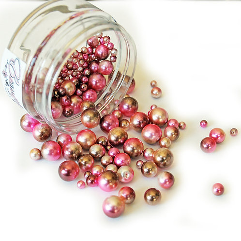 1 .8 Ounce Beautiful Beads Rose Gold Iridescent Pearls