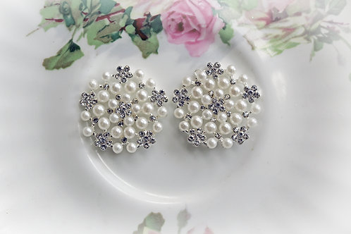 Marie Antoinette Pearl & Rhinestone Button Set