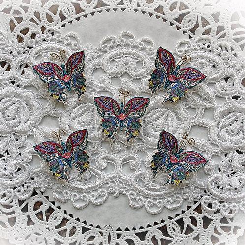 Tiny Treasures Mosaic Tile Premium Paper Butterflies