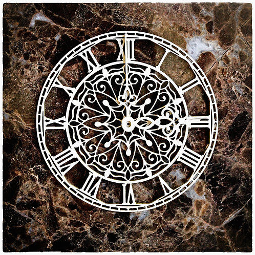 Beautiful Board Small Ironwork Clock Face Laser Cut Chipboard