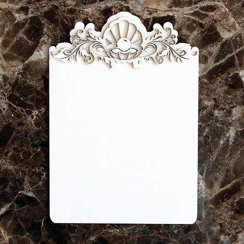 Beautiful Board 2 Piece Large Shell Tag Laser Cut Chipboard Set