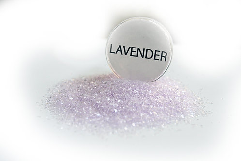 .5 Ounce Hand Tinted Lavender Gawdie Girl Chunky Glitter Glass
