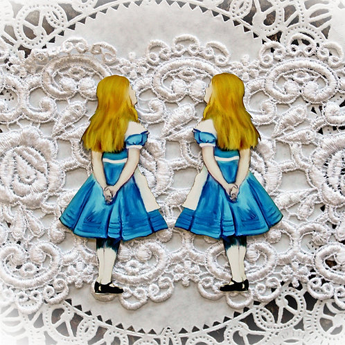 Printed Beautiful Board Large Alice Looking Up Laser Cut Chipboard Di