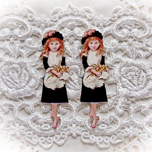 Printed Beautiful Board Large Flower Girl Buttercup Laser Cut Chipboard