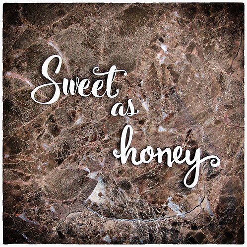 Beautiful Words Large Sweet As Honey Laser Cut Chipboard