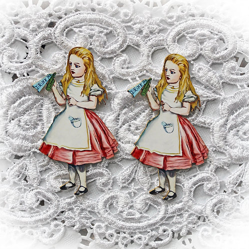 Printed Beautiful Board Small Alice In Wonderland Laser Cut Chipboard Die Cut