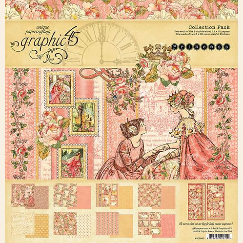 Graphic 45 Princess Collection Set Includes 16 Papers And Stickers