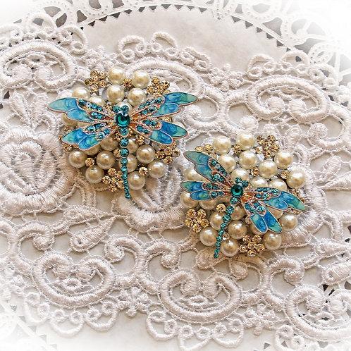 Teal Jewelry Premium Paper Dragonflies