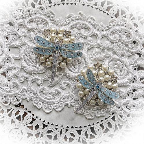 Pendant Teal Premium Paper  Dragonflies