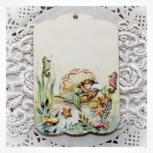 Printed Beautiful Board Small Mermaid Dreams 8 Piece Tag Set