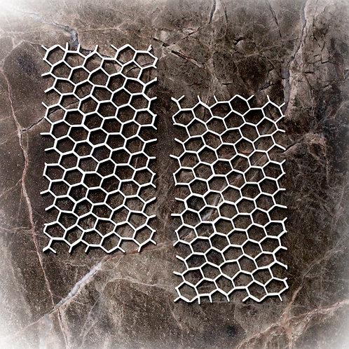 Beautiful Board Medium Bee Hive Elements Laser Cut Chipboard