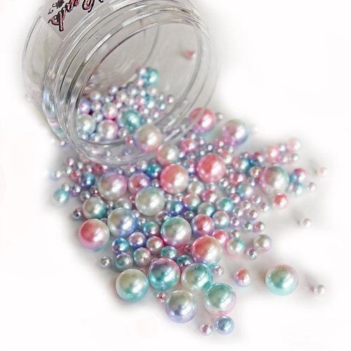 .6 Ounce Beautiful Beads Unicorn Candy Iridescent Pearls