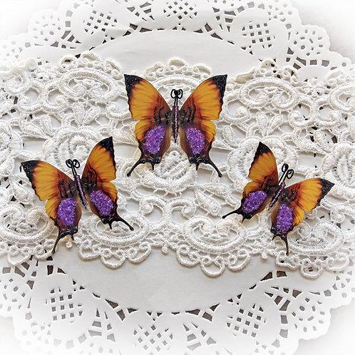 Etheral Premium Paper Glitter Glass Butterflies
