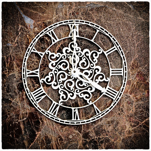 Beautiful Board Small Victorian Snowflake Clock Face Chipboard