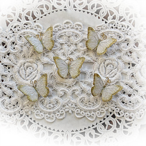 Tiny Treasures Premium Paper Gold Tinsel Butterflies Set