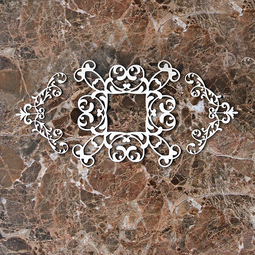 Beautiful Board Small Decorative Scroll Frame With Scroll Flourish Acce