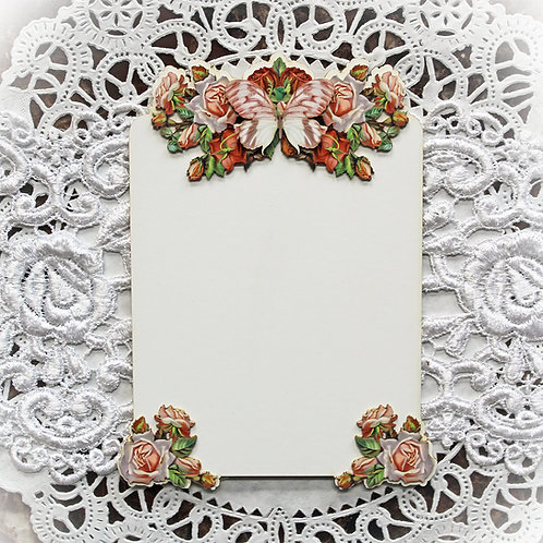 Beautiful Board 5 Piece Lissie Rose Tag Laser Cut Chipboard Set