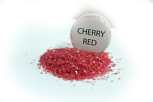 2 Ounce Hand Tinted Cherry Red Gawdie Girl Chunky Glitter Glass