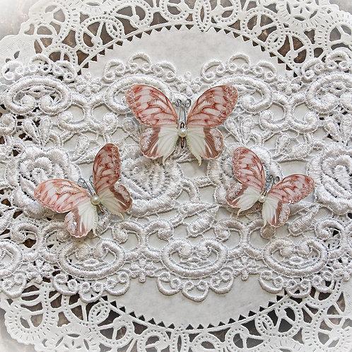 Lissie Premium Paper Glitter Glass Butterflies