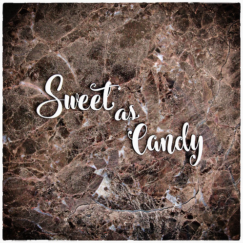 Beautiful Words Medium Sweet As Candy Laser Cut Chipboard
