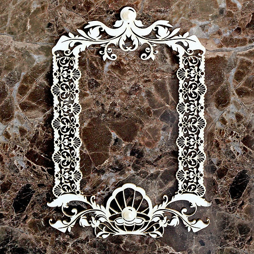 Beautiful Board Small Pearls Of Wisdom Frame Laser Cut Chipboard