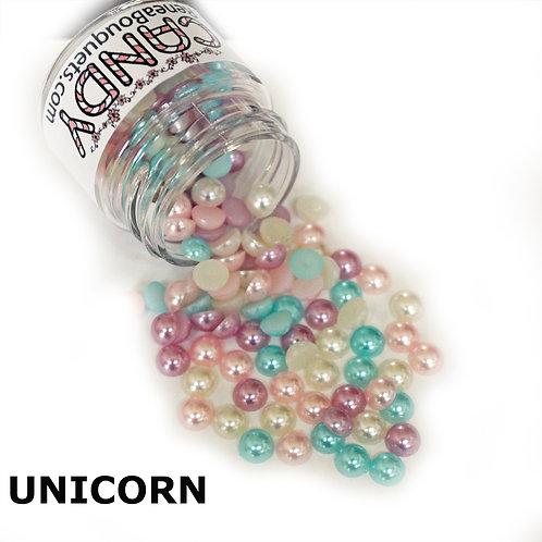 1.8 Ounce Beautiful Beads Unicorn Candy Flatback Pearls