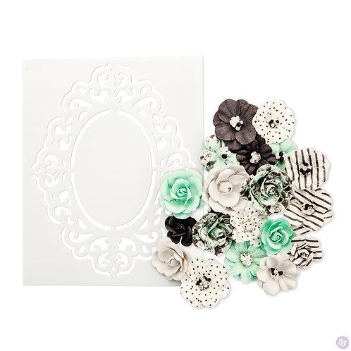 Prima Marketing Flirty Fleur Flowers In Style Minty Sprinkles