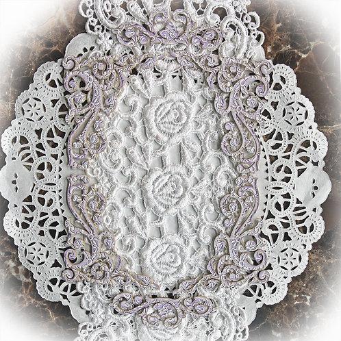 Beautiful Board 6 Piece Small Texture Pattern In Purple Laser Cut Chipboa