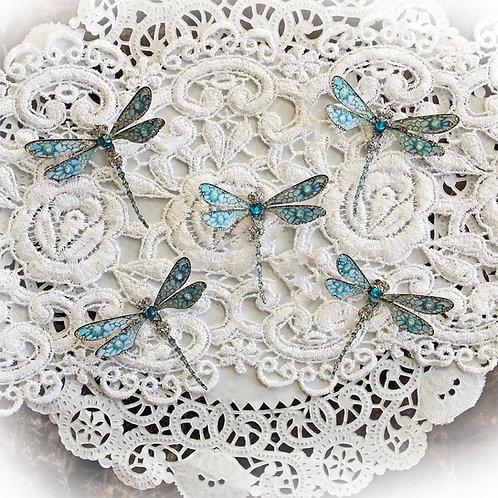 Tiny Treasures Premium Paper To Uranus And Back Glitter Glass Dragonflies