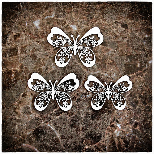 Beautiful Board Spring Butterfly Laser Cut Chipboard Set Of 3