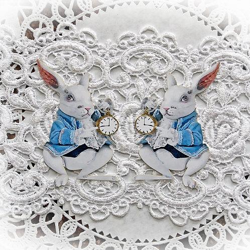 The White Rabbit Embellishment Small Premium Paper Die Cut