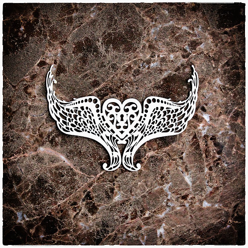 Beautiful Board Large Wings Laser Cut Chipboard