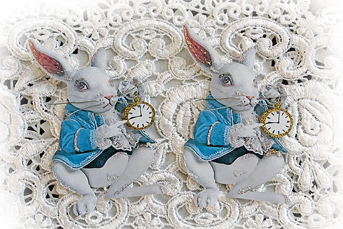 The White Rabbit Embellishment Large Premium Paper Die Cut