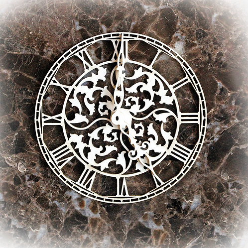 Beautiful Board Medium Vintage Paris Clock Face Laser Cut Chipboard