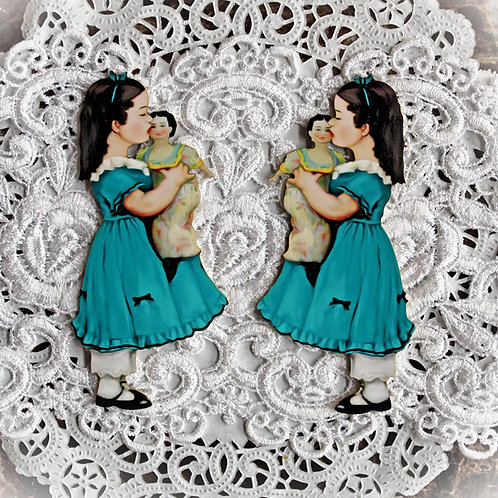 Printed Beautiful Board Large My Doll And Me Laser Cut Chipboard Die Cut