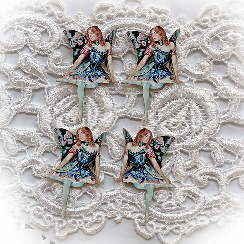 Beautiful Board Fairy-est Of Them All Itty Bitty Chipboard Set