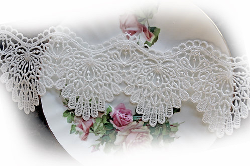 Doily Lace~White 2 1/4 Inch Wide