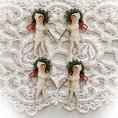 Beautiful Board Victorian Christmas Itty Bitty Chipboard Set