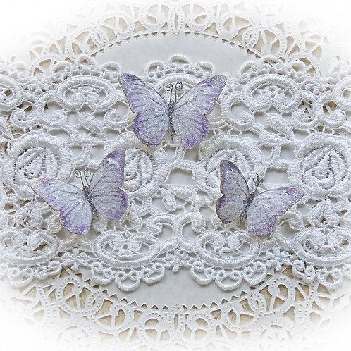 Lavender Fairy Dust Premium Paper Glitter Glass Butterflies