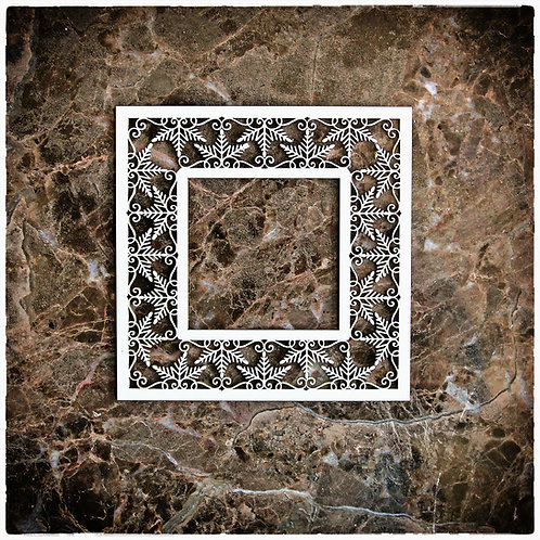 Beautiful Board Snowflake Frame Laser Cut Chipboard